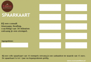 spaarkaart, korting sparen, cadeaubon sparen, sparen voor korting, stempelkaart